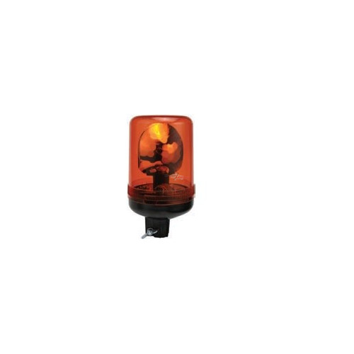 Gyrophares orange montage standard iso a 12 volts H1 diamètre 136mm
