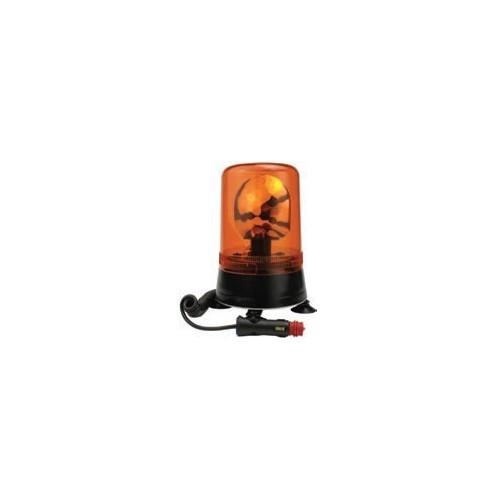 Gyrophares magnétique orange 12 volts H1 diamètre 177mm