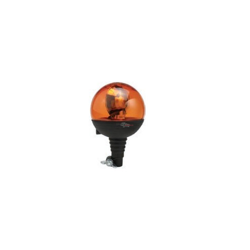 Rotating Beacon boule orange 24 volts H1 montage iso din a