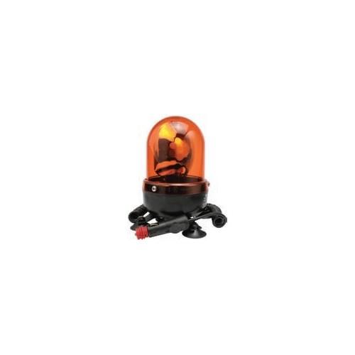 Gyrophares magnétique orange 12/24 volts H1 diamètre 110mm