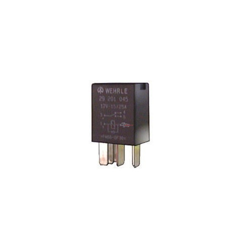 Relay 5-terminals 12 volts 25 amperes with diode replacing BOSCH 0332207104