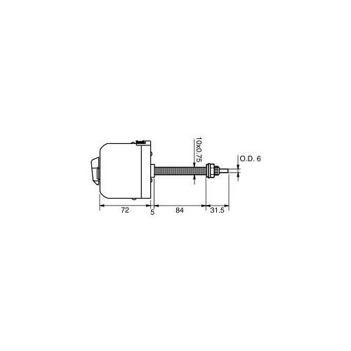 Wischermotor universal 12 volts mit austauschbarem Lager