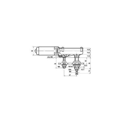 Wischermotor universal 12 volts Mit verkürzter Achse