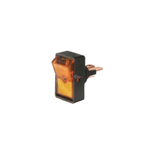 Rocker Switch orange 12 volts 10 Amp