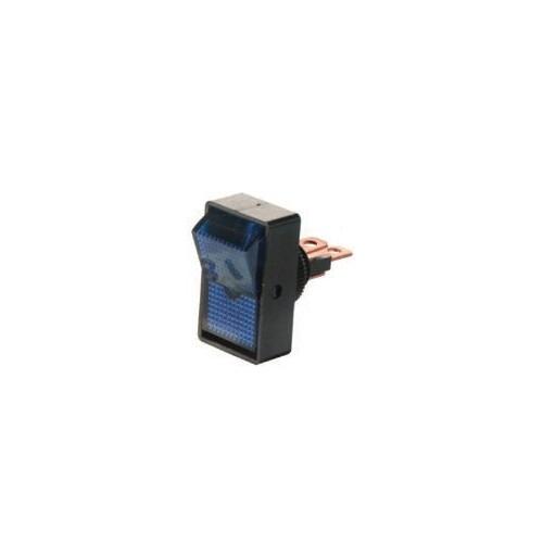 Interrupteur rocker bleu 12 volts 10 ampères