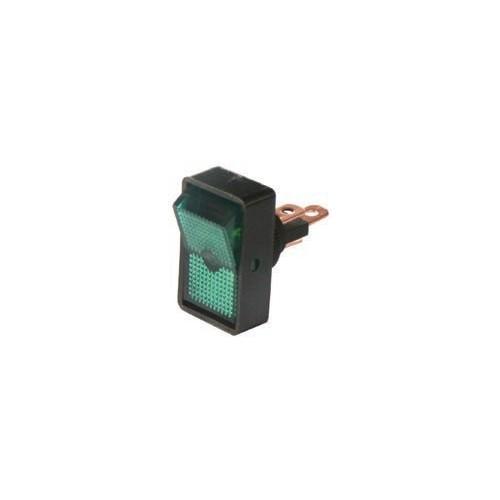Interrupteur rocker vert 12 volts 10 ampères