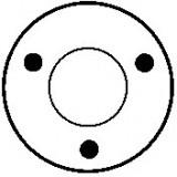 Contacteur / Solénoïde pour démarreur Bosch 0001107054 / 0001107055 / 0001107068