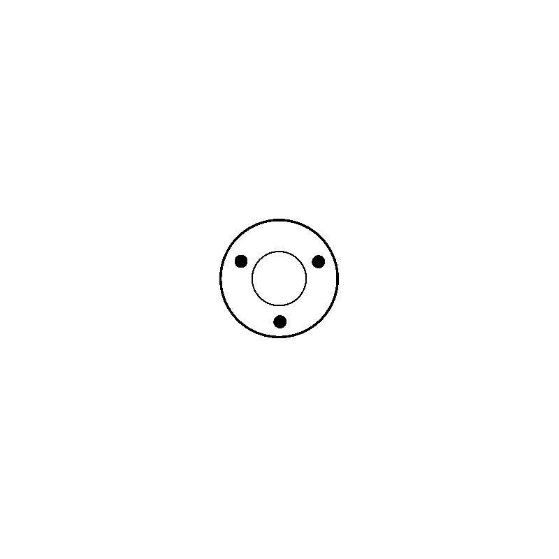 Contacteur / Solénoïde pour démarreur Bosch 0001107011 / 0001107039