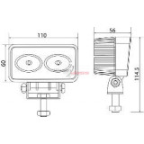 Projecteur to LEDS 20 Watt/head-lamp from travail a leds