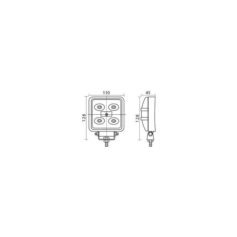 Projecteur à LEDS 15 Watt/Feu de travail a leds