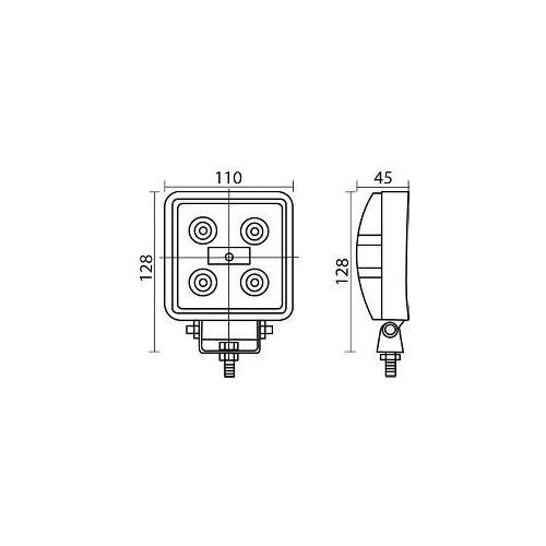 LED Arbeitslampe 15 Watt / 5 LED