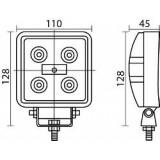 Projecteur à LEDS 15 Watt/Feu de travail à leds