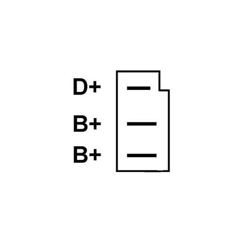Alternateur remplace Bosch 0120400858 / 0120400859 / 0120489061 / 0120489526