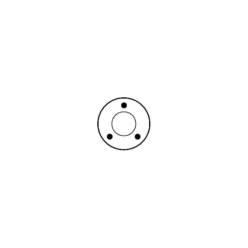 Solénoide pour démarreur Bosch 0001106017