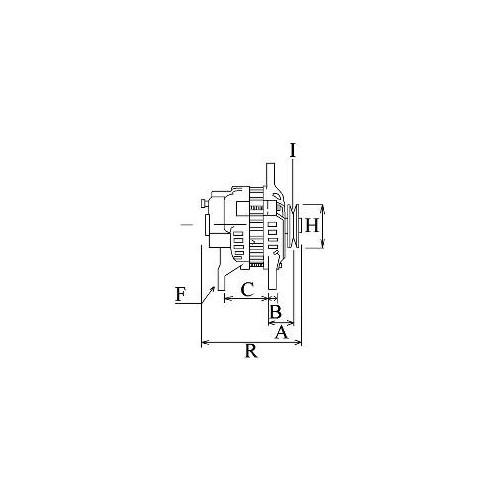 Alternateur remplace Delco-Remy 321-654 / 1105476 / 1105475 / 1105474