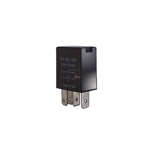 Relay inverseur 2 contacts 24 volts 4/10 Amp