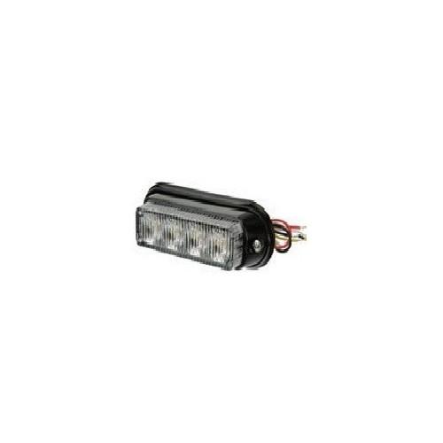 Feu flash à LED blanc 12 / 24 volts 4 LEDS