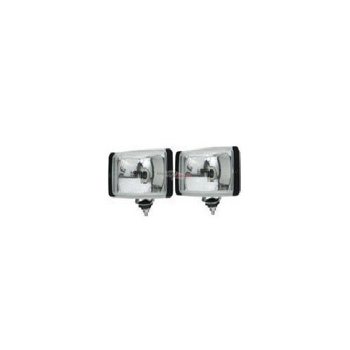 Set of 2 Head lamp long range rectangular e-approval
