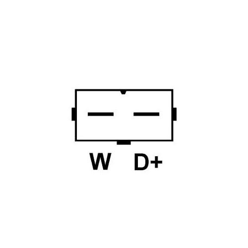 Alternateur remplace valéo A13VI41 / A13VI124 / A13VI121 / 2541815B