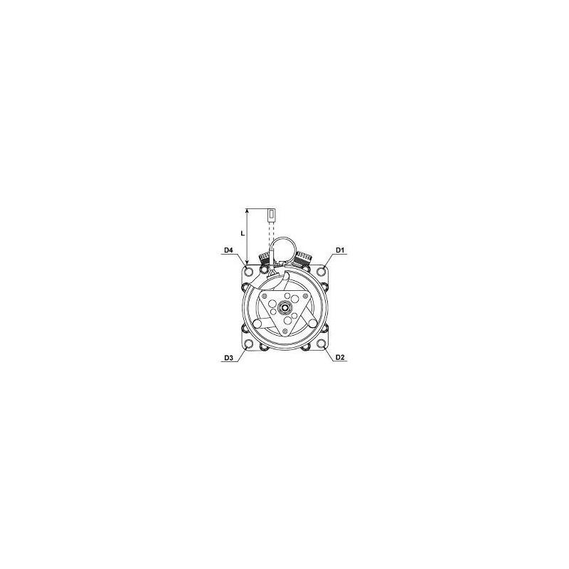 AC compressor replacing Sanden SD7H15-8227 / SD7H15-8181 / SD7H15-8023