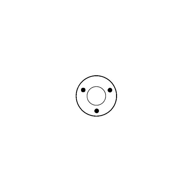 Contacteur / Solénoïde pour démarreur Bosch 0001212213 / 0001212214 / 0001212402