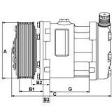 AC compressor replacing SANDEN SD7H15-4864 / SD7H15-7830