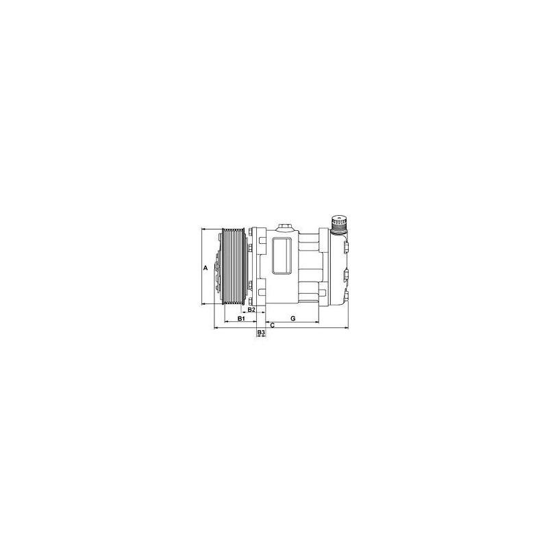 Compresseur de climatisation remplace Sanden SD7H15-U4637 / SD7H15-4637