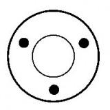 Solenoid for starter BOSCH 0001360002 / 0001360007 / 0001360008