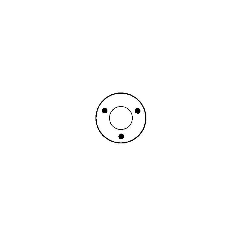 Contacteur / Solénoïde pour démarreur Bosch 0001208209 / 0001208226 / 9000081006