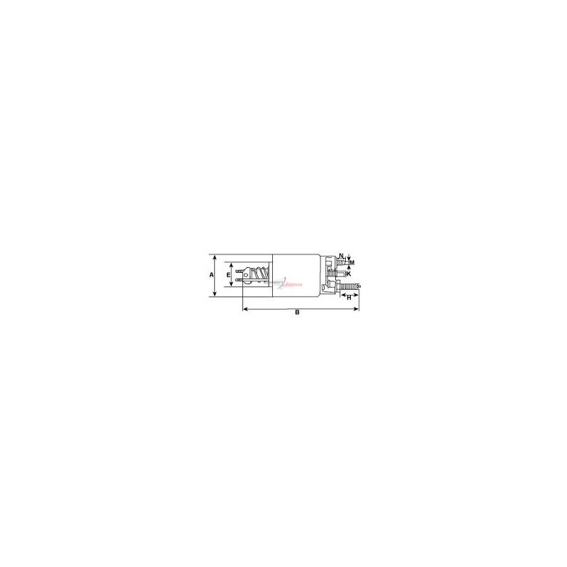 Solenoid for starter F75U11000AB / F77U11000AA / F81U11000AC / F81Z11002AA /