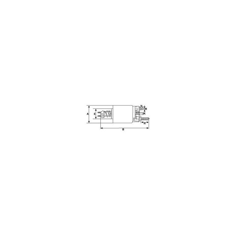 Solenoid for starter F7LU11000BA / f7pu-11000-aa