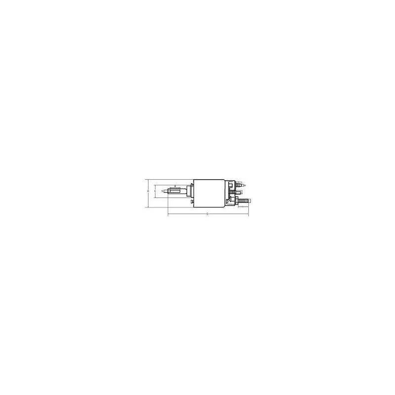 Contacteur / Solénoide pour démarreur Bosch 0001116001