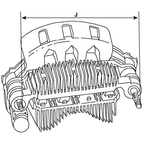 Pont de diode pour alternateur Delco remy 10480187 / 10480189 / 10480190