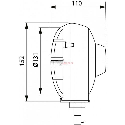 Head lamp e-approval for tractor Right /left fixation horizontal