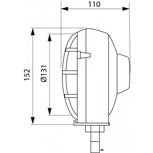 Phare homologué pour tracteur droit /gauche fixation horizontal