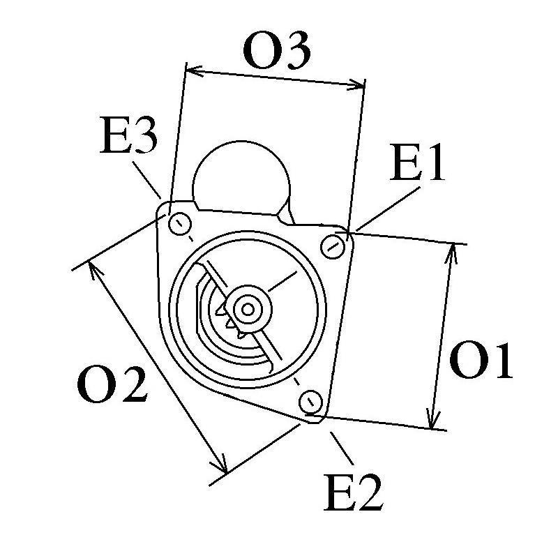 Démarreur remplace Bosch F000AL0319 / 0001116005 / 0001113006