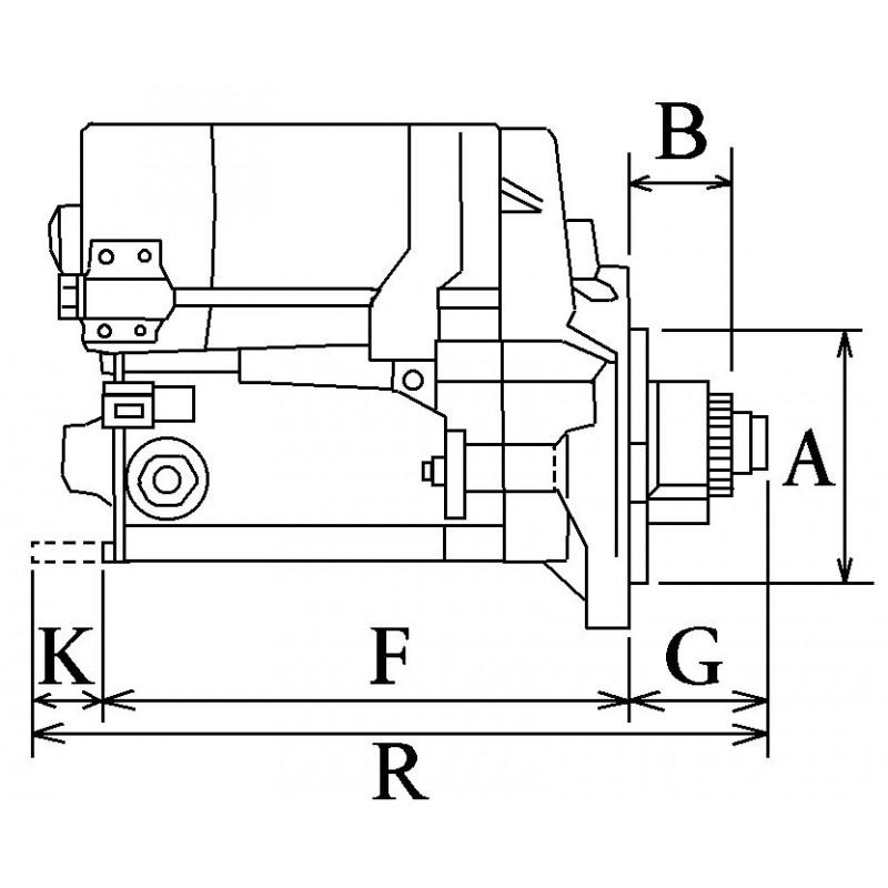 Démarreur remplace Hitachi S114-827 / S114-762B / S114-762A