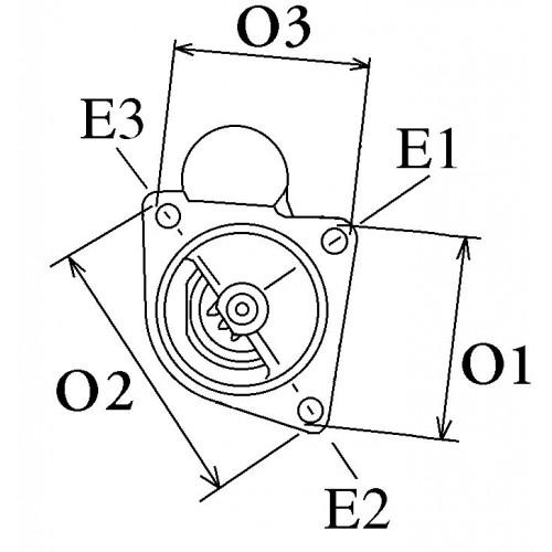 Démarreur remplace Bosch 0001108162 / 0001108125 / 0001108112 / 0001108074