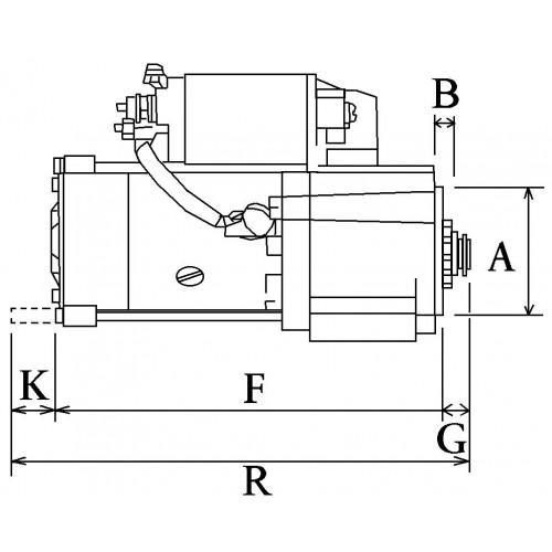 Démarreur remplace Mitsubishi M1T68781ZC / M0T60781