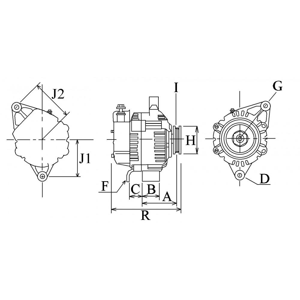 [DIAGRAM_38IU]  Alternator replacing DENSO 101211-9020 / 101211-9010 for Caterpillar | Denso Alternator Wiring Diagram 1052814 |  | Wagendass