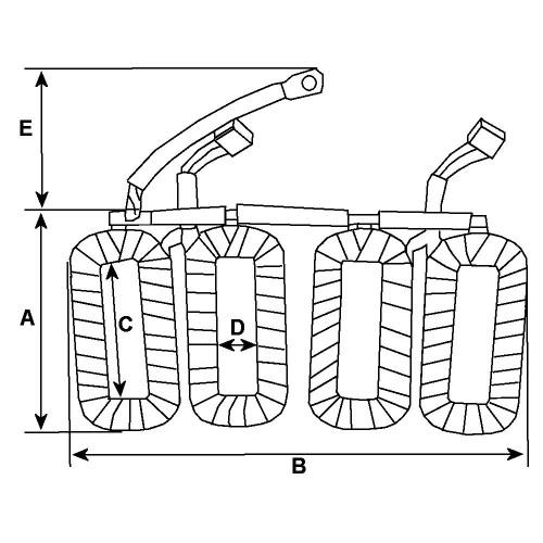 Inducteur / bobine pour démarreur Bosch 0001368001 / 0001368002 / 0001368003