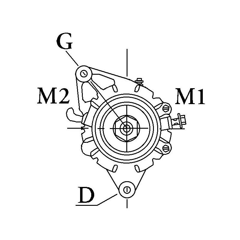 Alternator replacing DENSO 021000-4510 / 021000-4271