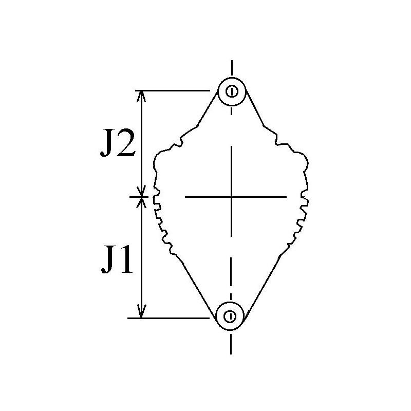 Alternator replacing DENSO 100211-7450 / 100211-745 / 100211-7061