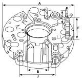 Rectifier for alternator BOSCH 0120300530 / 0120300531 / 0120300536