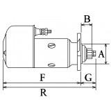 Démarreur remplace Bosch 0001416079 / 0001416078 / 0001416023
