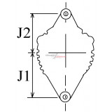 Alternator replacing Toyota 27060-78003-71 / DENSO 100211-4540