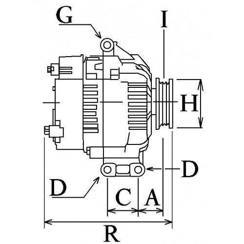 Alternateur NEUF remplace Bosch 0124325108 pour Austin Mini / Mini cooper
