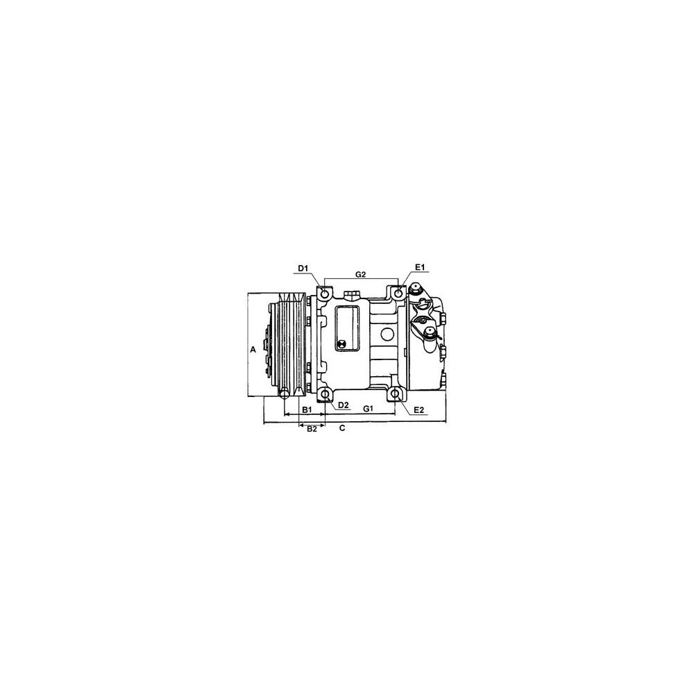 compresseur de climatisation remplace sanden pxe16 8681r pxe16 8681p pxe16 8681. Black Bedroom Furniture Sets. Home Design Ideas