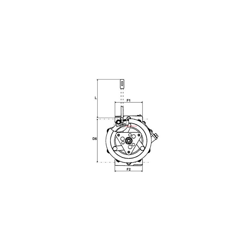 AC compressor replacing SANDEN PXE16-8681R / PXE16-8681P / PXE16-8681