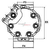 Compresseur de climatisation remplace Sanden PXE16-8681R / PXE16-8681P / PXE16-8681